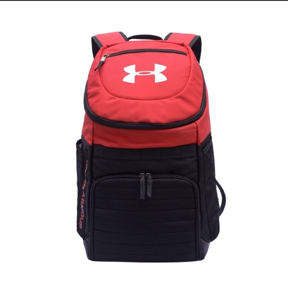 39e8cf24f257 UA Under Armour Backpack NEW Red and Black